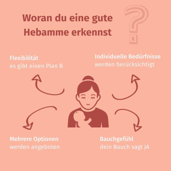 Infografik Hebamme